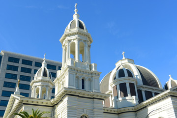 San Jose Cathedral Basilica of St. Joseph was built in 1885 in downtown San Jose, California, USA.