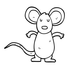 line drawing cartoon mouse rat