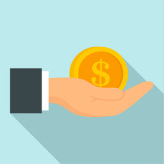 Bribery money coin icon. Flat illustration of bribery money coin vector icon for web design