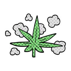 cartoon doodle marijuana leaf