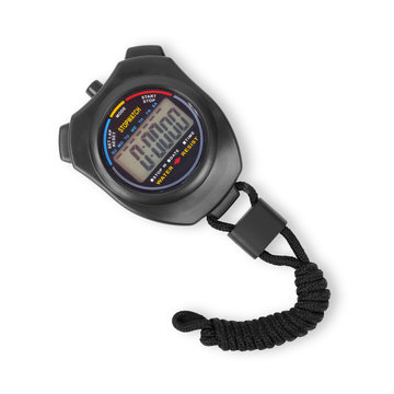 Sports equipment - Black Stopwatch. Isolated