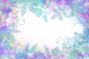 Lovely creative Dimensional soft focus leaves on abstract blurred background with isolated text space