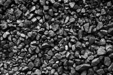 Coal of mine deposit black mineral background