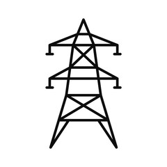 Electric tower icon. Outline illustration of electric tower vector icon for web design isolated on white background