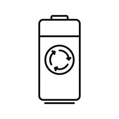 Recycle battery icon. Outline illustration of recycle battery vector icon for web design isolated on white background