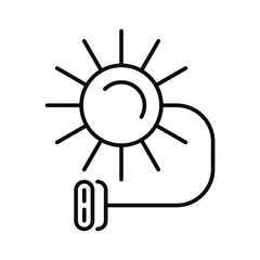 Solar electric icon. Outline illustration of solar electric vector icon for web design isolated on white background