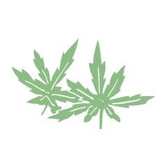 cartoon doodle marijuana leaves