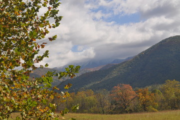Mountains in October Ready or not winter is on the way