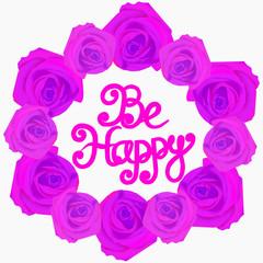 Be happy background