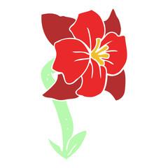 flat color illustration of a cartoon flower