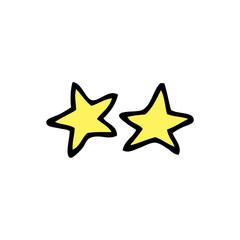 cartoon doodle stars