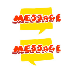 flat color illustration of a cartoon message texts
