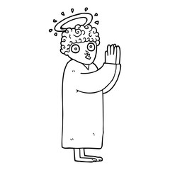 line drawing cartoon angel praying