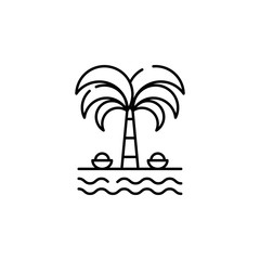 Indian palm tree icon. Element of India for mobile concept and web apps illustration. Thin line icon for website design and development, app development. Premium icon