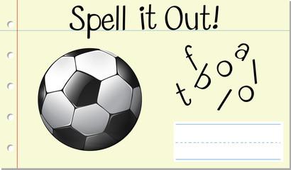 Spell English word football