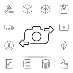 selfie icon. Web icons universal set for web and mobile