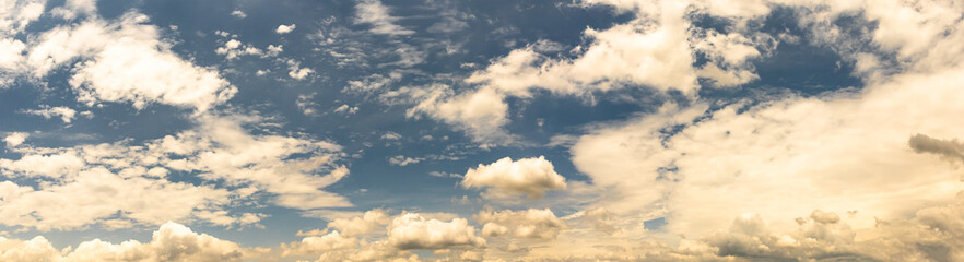 Aluminium Prints Heaven Fantastic soft white cloud against blue sky