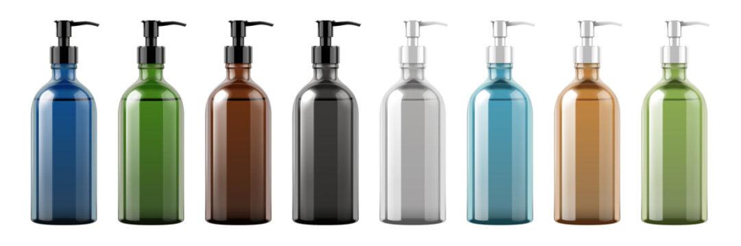 Set of pump bottles