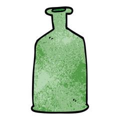 cartoon doodle green bottle