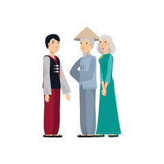 group of people chinese avatar character