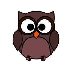 cute owl bird character