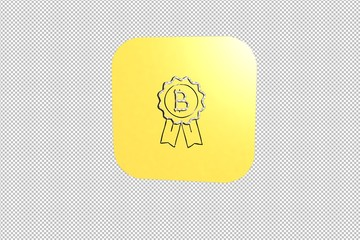 3D illustration of Best Way, yellow color with transparent background.