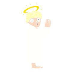 cartoon doodle angel praying