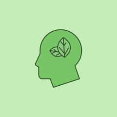 head leaves, green mind icon