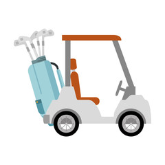 golf cart isolated icon