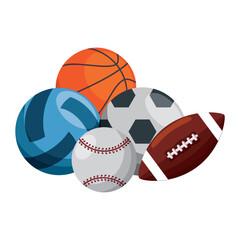 sport balls set icons