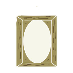 flat color style cartoon picture frame