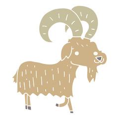 flat color style cartoon goat