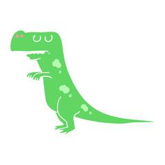 flat color style cartoon dinosaur