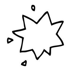 line drawing cartoon explosion symbol