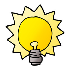 cartoon doodle light bulb