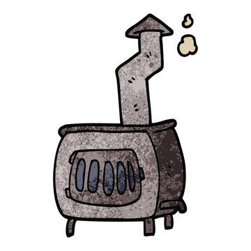 cartoon doodle old wood burner