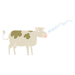 flat color style cartoon cow