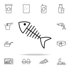 fish bones icon. Food icons universal set for web and mobile
