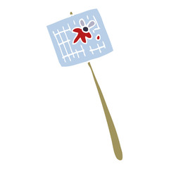 cartoon doodle fly swatter