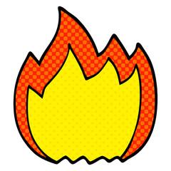 cartoon doodle open flame