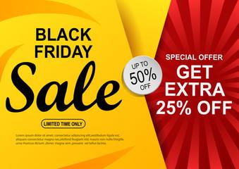 Black Friday sale banner. vector illustration