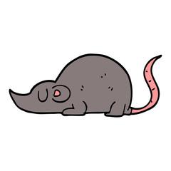 cartoon doodle mouse rat