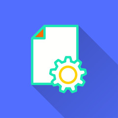 Business report - vector icon for graphic and web design.