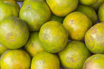 Green orange fruits