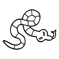 line drawing cartoon poisonous snake