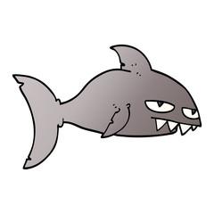 cartoon doodle deadly shark