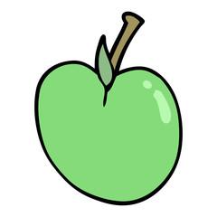 cartoon doodle apple