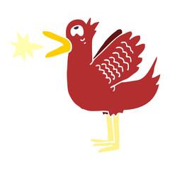 cartoon doodle quacking duck