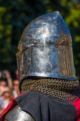 Knight's armour for historical reconstructions, close up