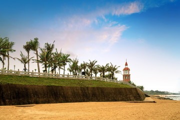 Ancient bell tower by the sea